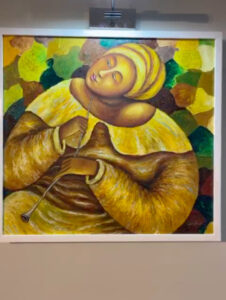 Lady Flute Painting