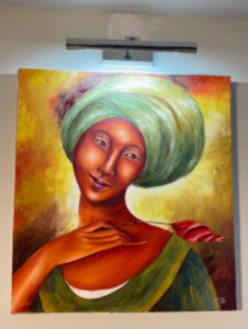 Lady Headdress Painting