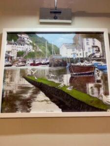 Polperro Harbour Painting