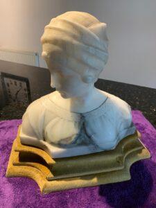 alabaster bust of greek lady