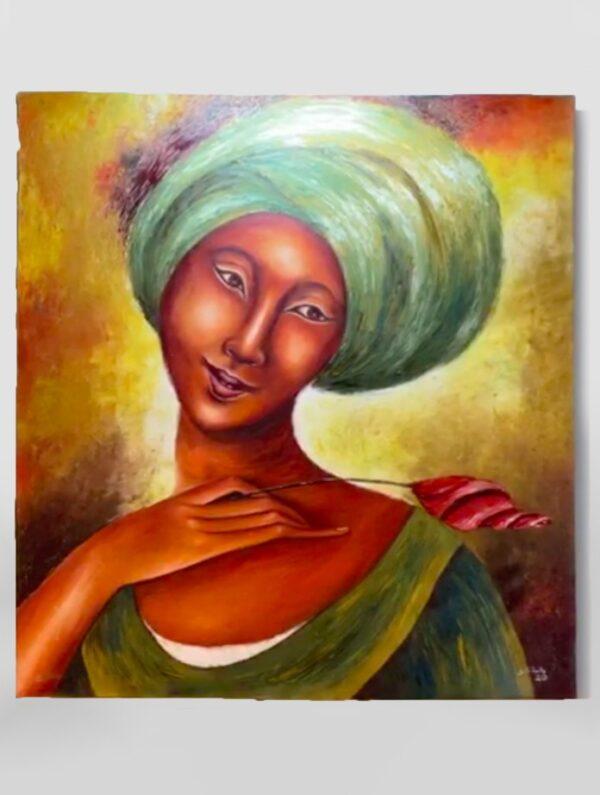 lady with headdress